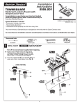 American Standard Townsquare 2555.201 User's Manual