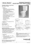 American Standard Townsend Champion 4 Round Front Height Toilet 3180.016 User's Manual