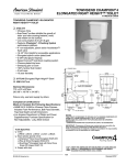 American Standard Townsend Champion 4 Elongated Right Height Toilet 2733.014 User's Manual