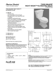 American Standard Town Square Right Height Elongated Toilet 3797.016 User's Manual
