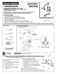 American Standard Town Square Pressure Balance Bath/Shower Fitting 2555.602 User's Manual