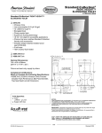 American Standard Standard Collection Elongated Toilet 3264.016 User's Manual
