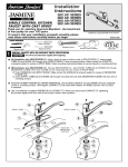 American Standard Single Control Kitchen Faucet with Cast Spout 3821.644 Series User's Manual