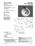 American Standard Royton Countertop Sink 0571.000 User's Manual