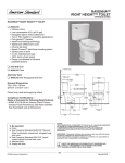 American Standard Right Height Toilet Ravenna User's Manual