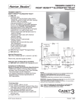 American Standard Right Height Elongated Toilet Triumph Cadet 3 User's Manual