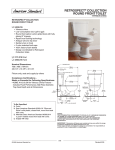 American Standard Retrospect Collection Right Heigh Elongated Toilet 4393.016 User's Manual