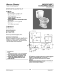 American Standard Repertoire Two-Piece Elongated Toilet 2483.019 User's Manual