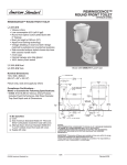 American Standard Reminiscence Round Front Toilet 3111.016 User's Manual