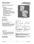 American Standard Reminiscence 4111.016 User's Manual