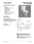 American Standard Plebe Round Front Complete Toilet 3500.000 User's Manual