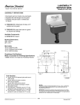 American Standard Lakewell Service Sink 7692.008 User's Manual