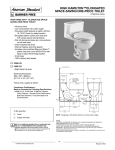 American Standard High Hamilton Elongated Space-saving One-Piece Toilet 2096.333 User's Manual