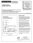 American Standard Heritage Bidet 5034 User's Manual