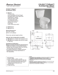 American Standard FitRight Elongated Toilet 2435.012 User's Manual