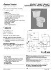 "American Standard Colony Right Height Elongated 12"" Rough-In Toilet 2359.012 User's Manual"