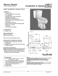 "American Standard Cadet Right Height 14"" Rough-In Elogated Toilet 4114.016 User's Manual"
