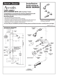 American Standard 8630 Series User's Manual
