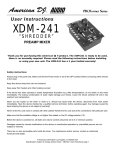 American DJ XDM-241 User's Manual