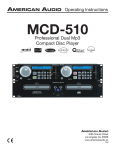 American Audio MCD-510 User's Manual