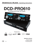 American Audio DCD-PRO610 User's Manual