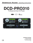 American Audio DCD-PRO310 User's Manual