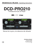 American Audio DCD-PRO210 User's Manual