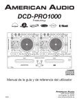 American Audio DCD-PRO1000 User's Manual