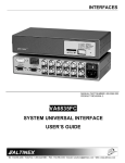 Altinex VA6835FC User's Manual