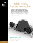 Altec Lansing FX3021 User's Manual