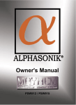 Alphasonik MAYHEM PSW915 User's Manual