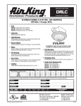 Air King Exhaust Fans DRLC User's Manual