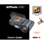 AGFA ePHOTO 1280 User's Manual
