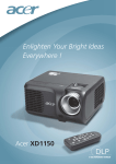 Acer Projector XD1150 User's Manual