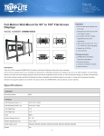 Tripp Lite DWM60100XX flat panel wall mount