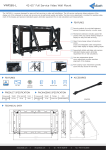 Edbak VWFS65-L flat panel wall mount