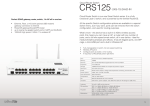 Mikrotik CRS125-24G-1S-2HND-IN router