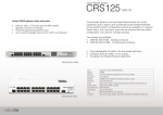 Mikrotik CRS125-24G-1S-RM router