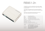 Mikrotik RB951-2N WLAN access point