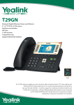 Yealink T29GN LCD Wired handset Black IP phone