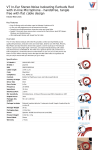 V7 In-Ear Stereo Noise Isoloating Earbuds Red with In-line Microphone - handsfree, tangle free with flat cable design