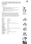 V7 In-Ear Stereo Earbuds Black with In-line Microphone - handsfree, tangle free with flat cable design