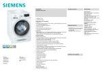 Siemens WD14H462FF washer dryer