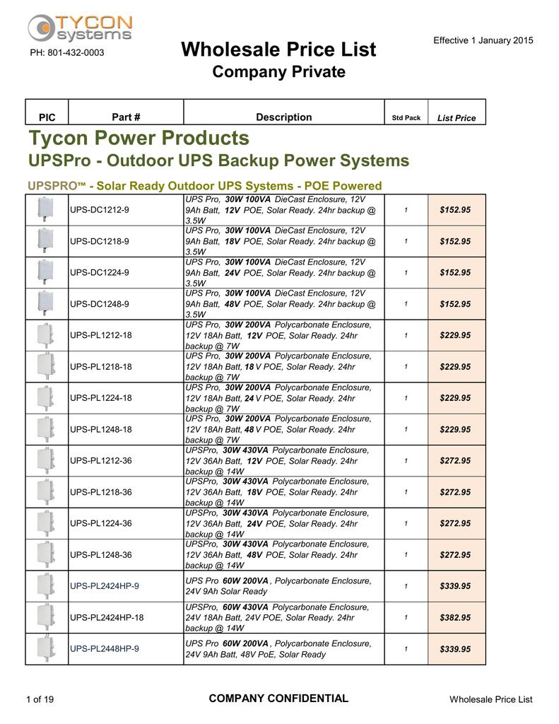 TPBAT12-9 5.94 X 2.56 X 3 12v 9ah Agm SLA Battery Tycon Power Systems