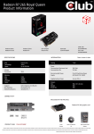 CLUB3D Radeon R7 265 royalQueen AMD Radeon R7 265 2GB