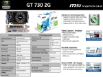 MSI GeForce GT 730 2GB NVIDIA GeForce GT 730 2GB