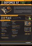 Zotac GeForce GT 730 NVIDIA GeForce GT 730 1GB