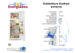 Everglades EVTD310 fridge-freezer