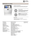 Electrolux ESF6525LOW dishwasher
