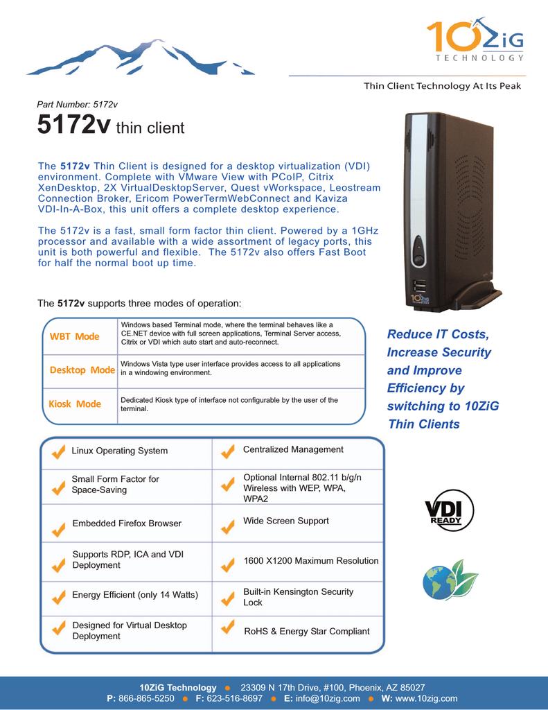 10ZiG Technology 5172v